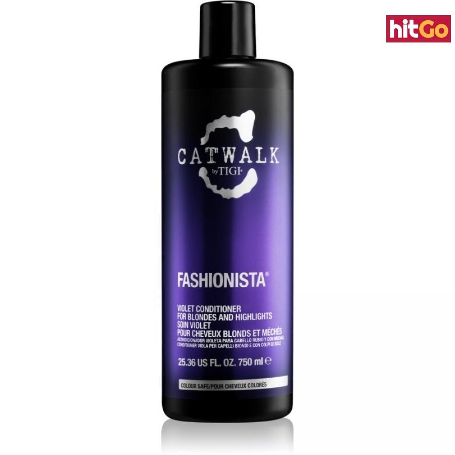 TIGI Catwalk Fashionista fialový kondicionér pro blond a melírované vlasy 750 ml dámské 750 ml