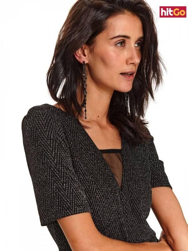 Top Secret LADYS EARRINGS Black One size