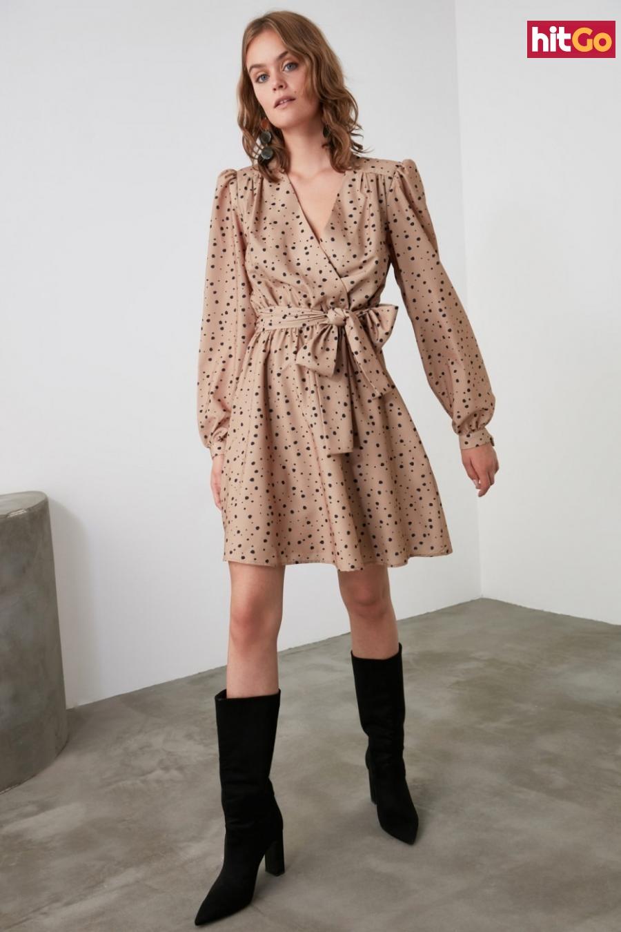Trendyol Camel Belt Cruise Dress dámské 34