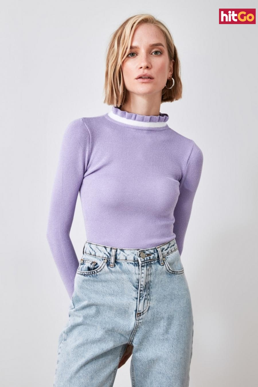 Trendyol Lila Knitwear Sweater dámské Lilac M