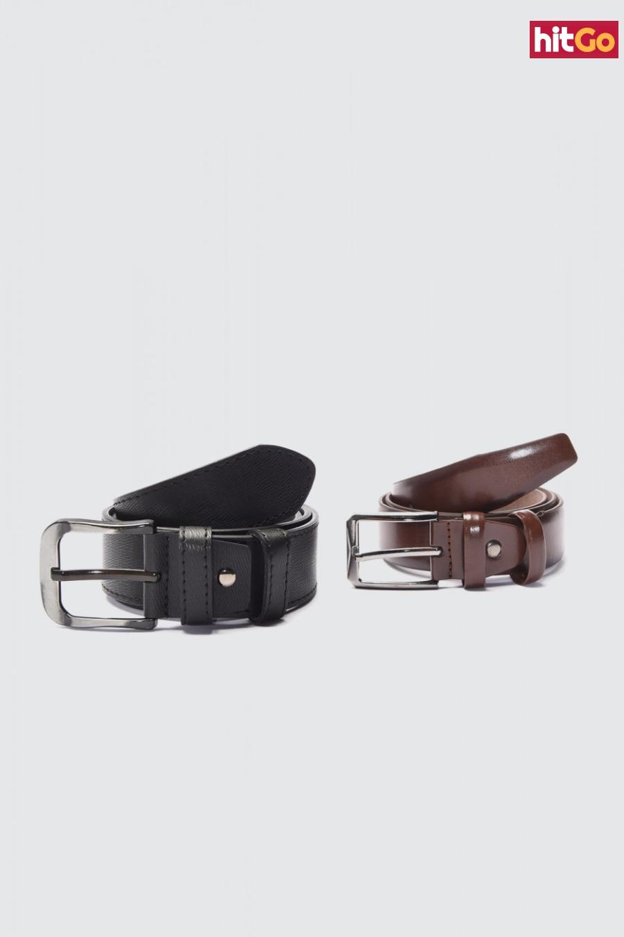 Trendyol Multicolored Mens 2-way FD Leather Belt pánské 135 cm
