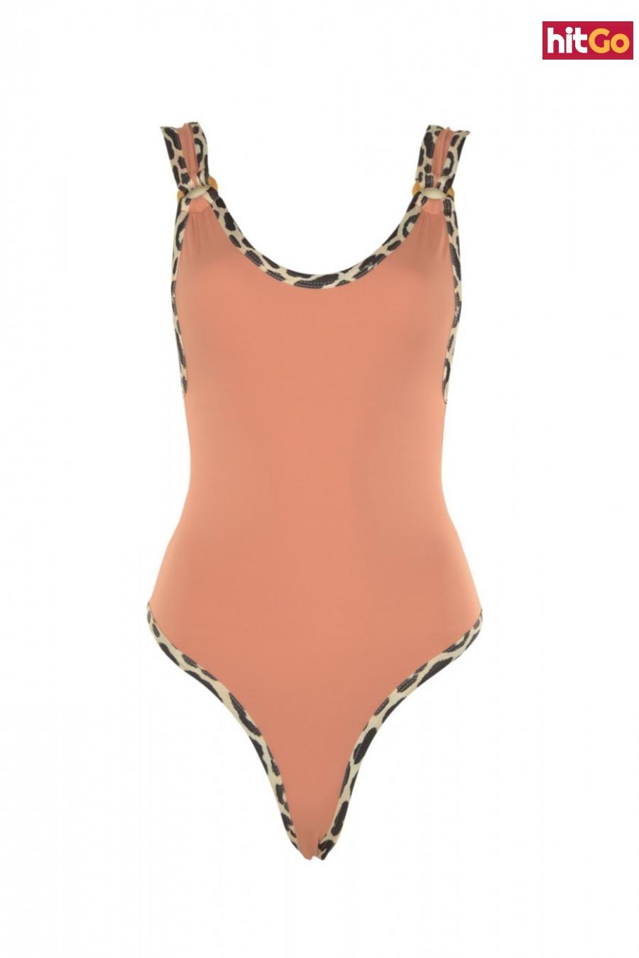 Trendyol Rose Dry Animal Patterned Swimsuit dámské 38