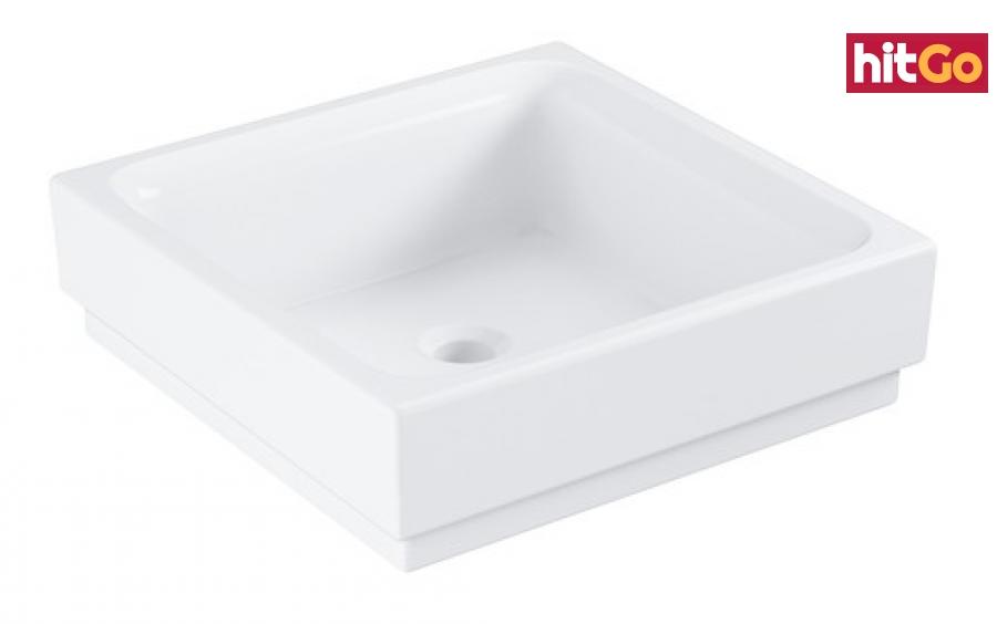 Umyvadlo na desku Grohe Cube Ceramic 40x40 cm alpská bílá otvor pro baterii uprostřed 3948200H bílá alpská bílá