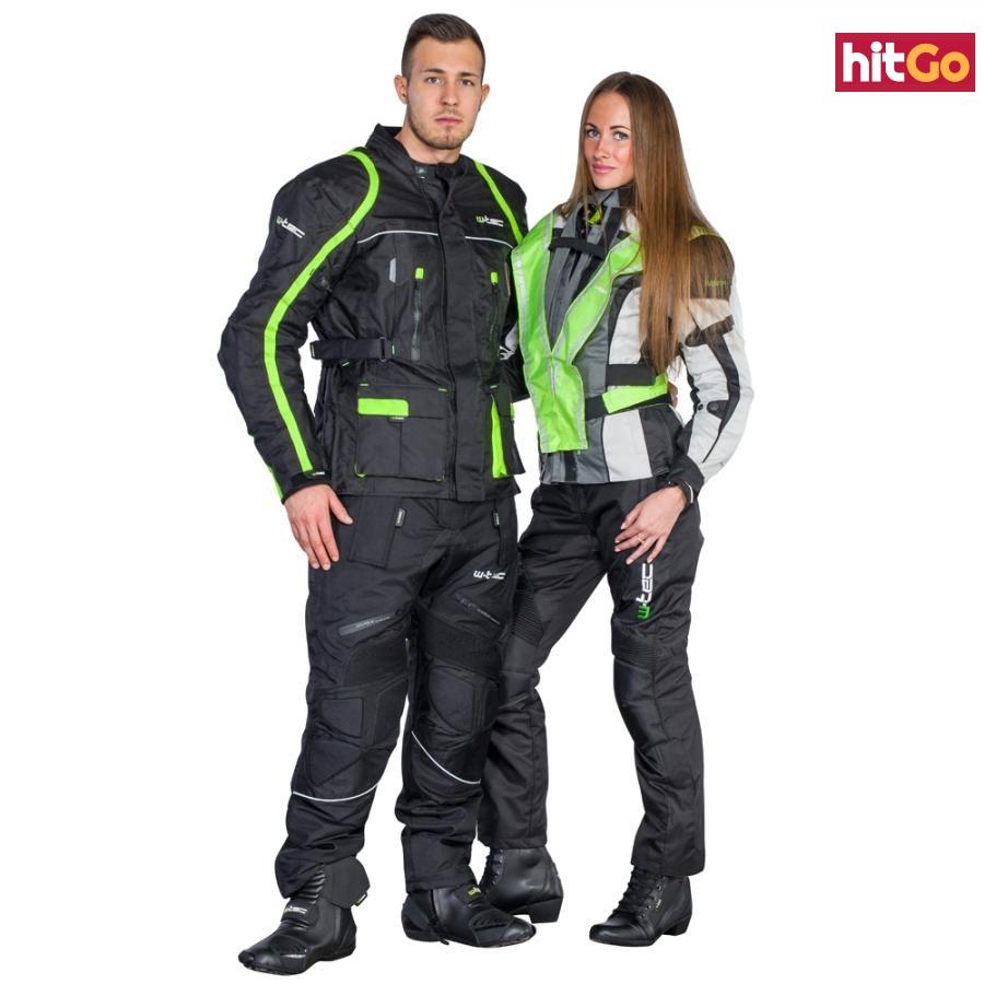 Unisex Motocyklové Kalhoty W-Tec Mihos New  Černá  Xxl XXL