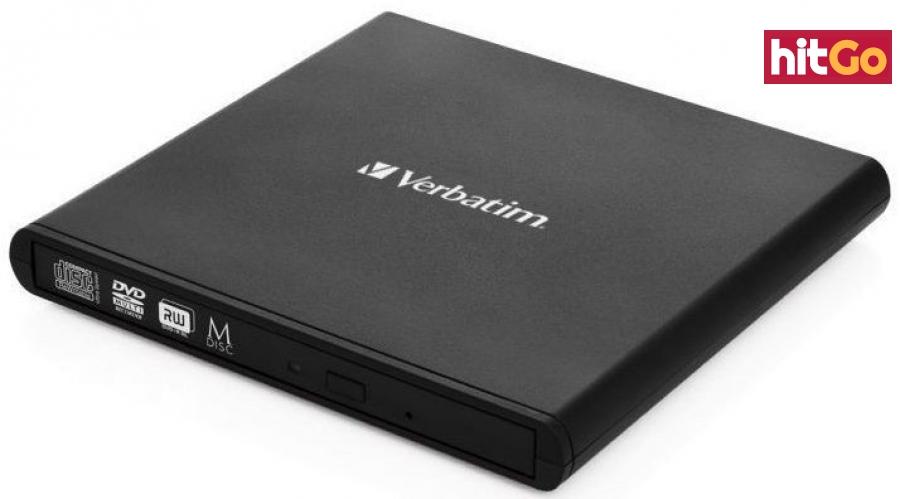 USB příslušenství verbatim externí cd/dvd slimline mechanika usb 2.0