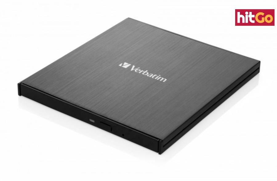 USB příslušenství verbatim externí cd/dvd slimline mechanika usb-c černá   nero