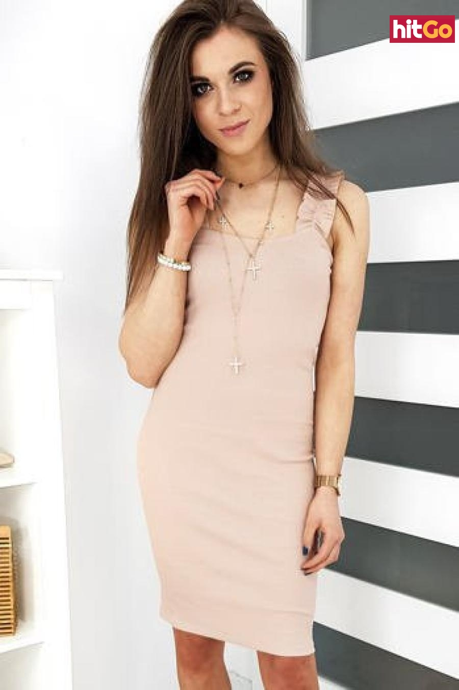 VINTO beige dress EY1173 dámské Neurčeno One size