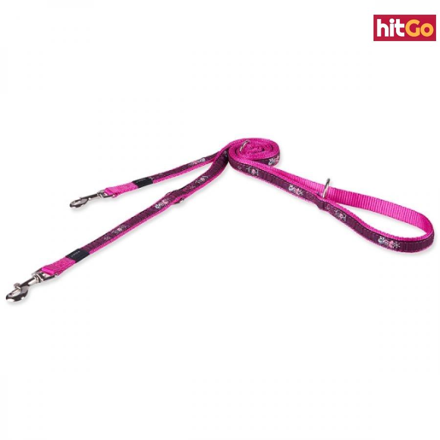 Vodítko fancy dress pink love přepínací 1,6x180cm