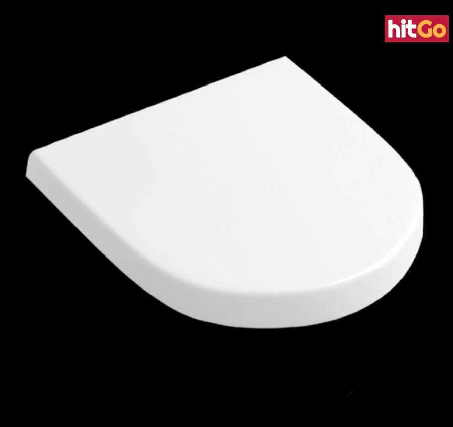 WC prkénko Villeroy & Boch Subway 2.0 duroplast bílá 9M69S101 bílá bílá