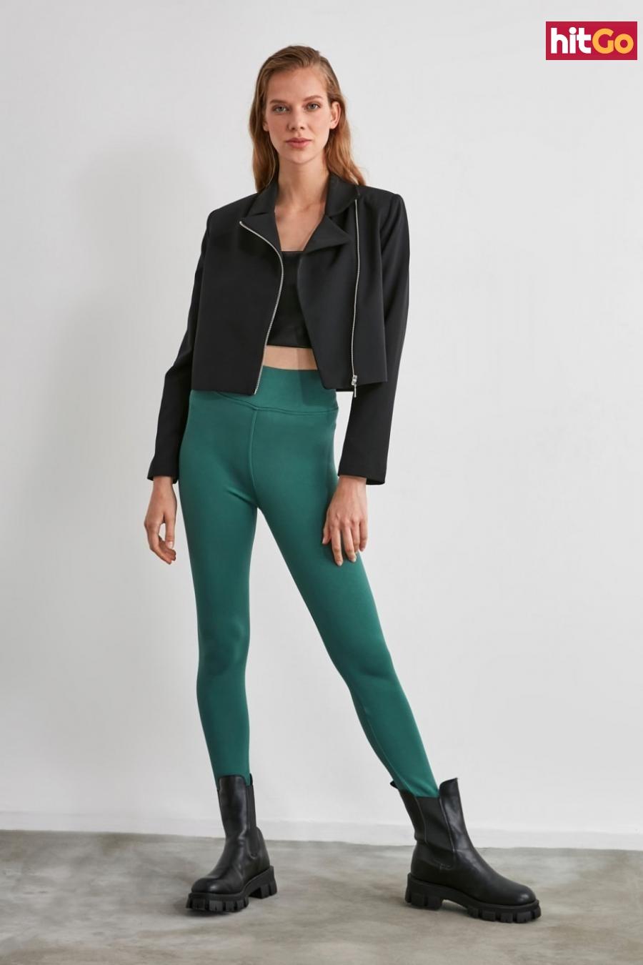 Womens Leggings Trendyol Fashion dámské Green M