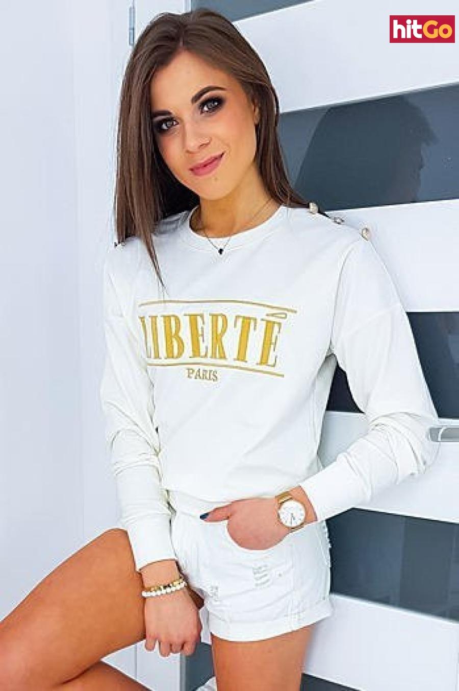 Womens sweatshirt LIBERTE ecru BY0344 dámské Neurčeno One size