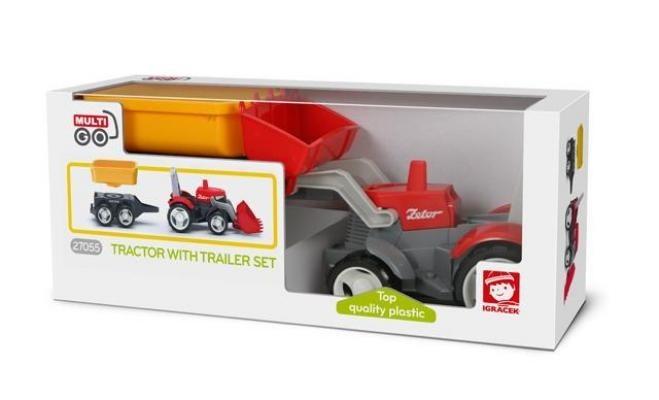 Igráček Multigo 1   2 traktor s přívěsem