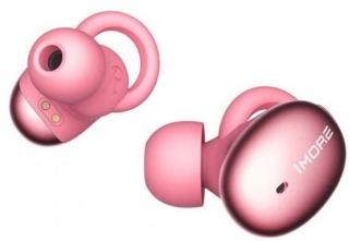 1more stylish truly wireless headphones  pink