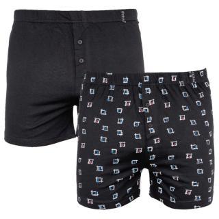 2PACK mens shorts Molvy black  pánské Neurčeno L