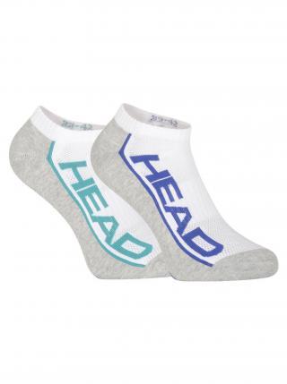 2PACK ponožky HEAD vícebarevné pánské fialová 39-42