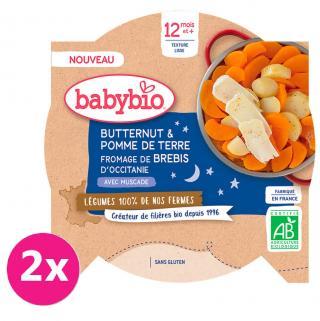 2x BABYBIO Brambory máslová dýně ovčí sýr 230 g oranžová