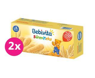 2x BEBIVITA Medvědí sušenky 180 g mix barev