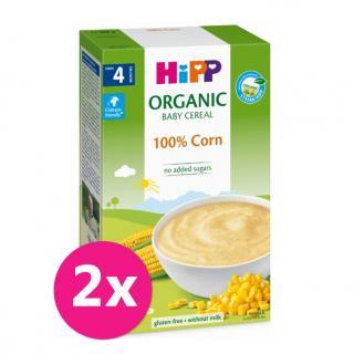 2x HiPP BIO První obilná kaše - 100 % kukuřičná od uk. 4. měsíce 200 g mix barev