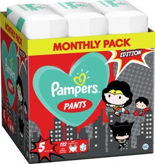 2x PAMPERS Plenkové kalhotky Pants vel. 5, 66 ks, 12-17 kg Warner Bros LTD mix barev