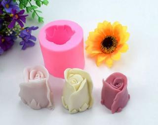 3D silikonová forma ve tvaru růže