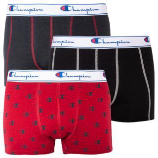 3PACK men's boxers Champion red with logo  pánské Neurčeno M