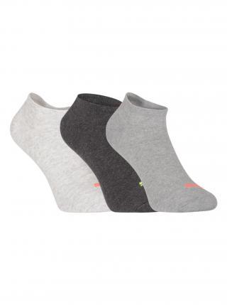 3PACK ponožky Puma šedé pánské šedá 35-38
