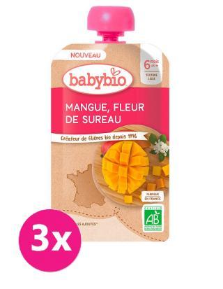 3x BABYBIO Mango bezový květ 120 g růžová