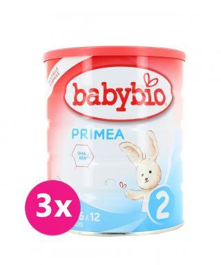 3x BABYBIO PRIMEA 2 kojenecké bio mléko 800 g mix barev