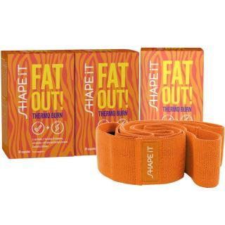 3x FAT OUT! THERMO BURN kapsle   posilovací guma na cvičení ZDARMA