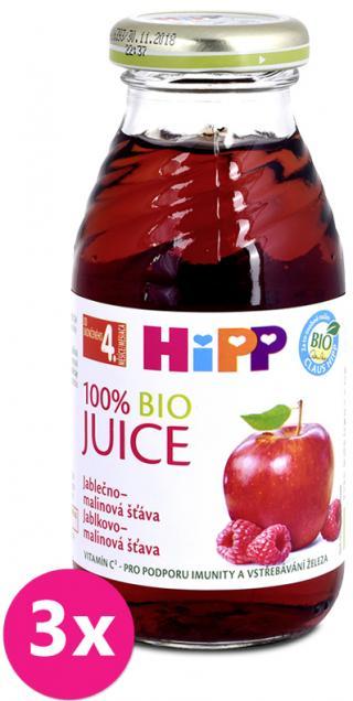 3x HIPP BIO Jablečno-malinová šťáva 200 ml