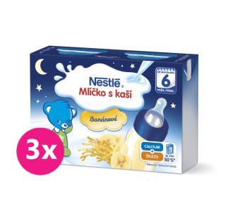 3x NESTLÉ Banánové mlíčko s kaší  modrá