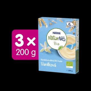 3x NESTLÉ Naturnes BIO Nemléčná kaše Vanilková 200 g modrá