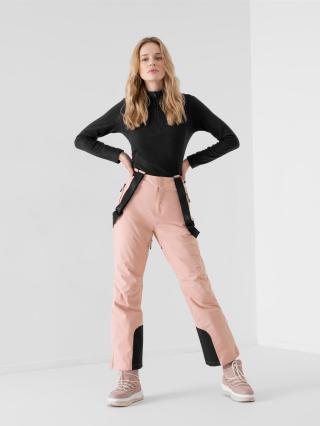 4F - Dámské lyžařské kalhoty membrána 8 000 - prášek růžový - Velikost XS dámské XS