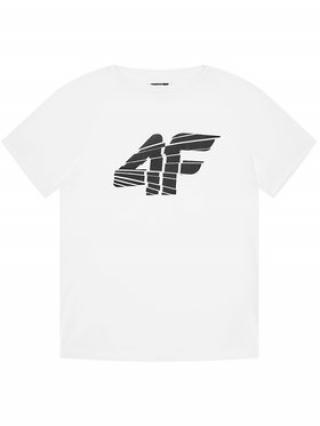 4F Funkční tričko HJL21-JTSM015 Bílá Regular Fit pánské 122