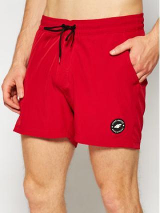 4F Plážové šortky SKMT001 Červená Regular Fit pánské S
