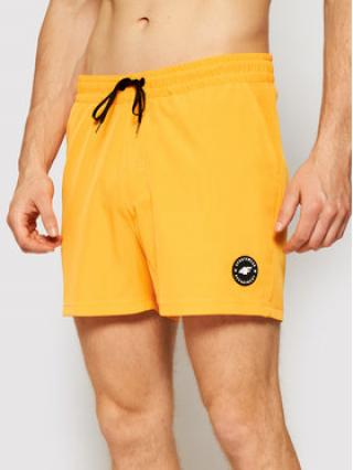 4F Plážové šortky SKMT001 Oranžová Regular Fit pánské S