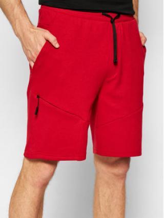 4F Sportovní kraťasy SKMD013 Červená Regular Fit pánské S