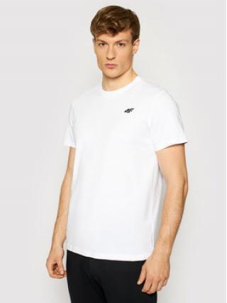 4F T-Shirt NOSH4-TSM003 Bílá Regular Fit pánské S