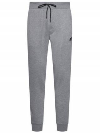 4F Teplákové kalhoty H4L21-SPMD001 Šedá Regular Fit pánské S