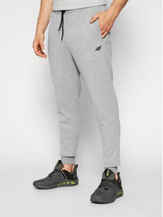 4F Teplákové kalhoty H4L21-SPMD010 Šedá Regular Fit pánské S