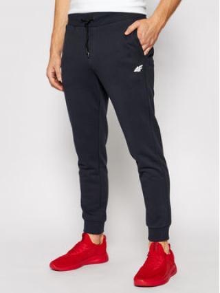 4F Teplákové kalhoty NOSH4-SPMD001 Tmavomodrá Regular Fit pánské S