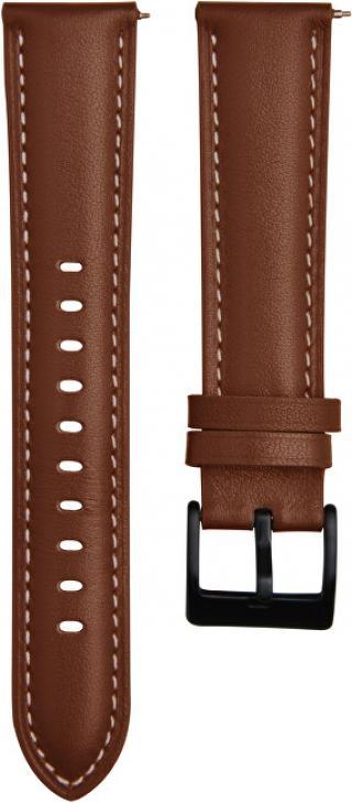4wrist Kožený řemínek s prošíváním - Light Brown 22 mm
