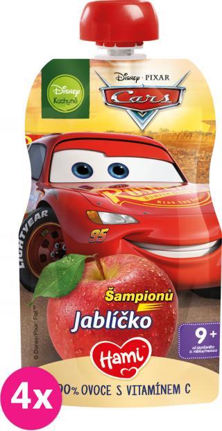 4x HAMI Disney Cars ovocná kapsička Šampionů Jablíčko 110 g, 9  červená