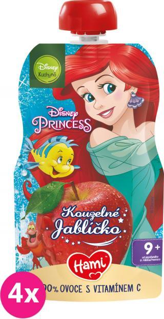 4x HAMI Disney Princess ovocná kapsička Kouzelné Jablíčko 110 g, 9  červená
