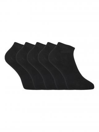 5PACK ponožky Styx nízké bambusové černé pánské černá 35-38