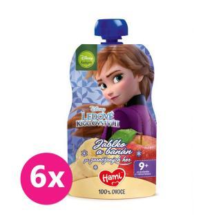 6 x HAMI Disney Frozen Anna ovocná kapsička Jablko a Banán 110 g, 9