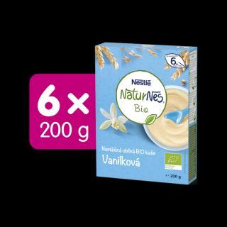 6x NESTLÉ Naturnes BIO Nemléčná kaše Vanilková 200 g