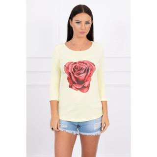 A blouse with a rose, lemon dámské Neurčeno One size
