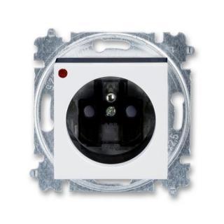 ABB Levit zásuvka bílá/kouřová černá 5599H-A02357 62 s přepěťovou ochranou