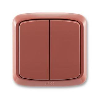 ABB Tango vypínač č.5 IP44 vřesová červená 3558A-05940 R2